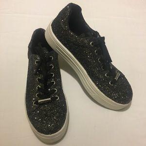 Topshop Glitter Sneakers
